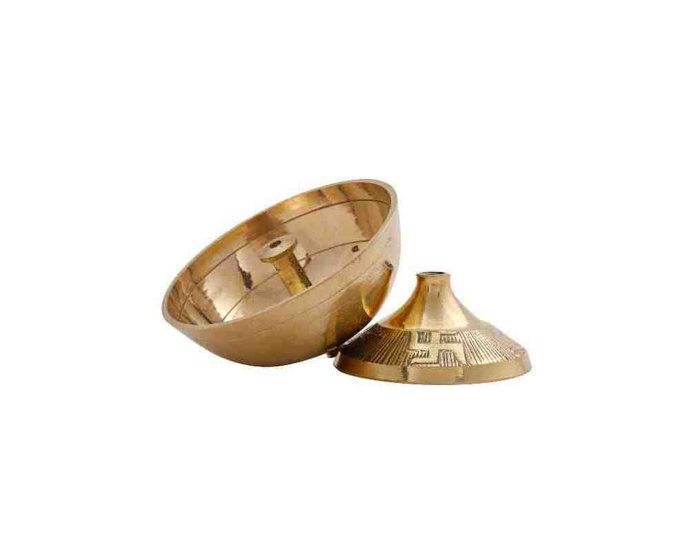 Akhand Diya Carving Design in Brass