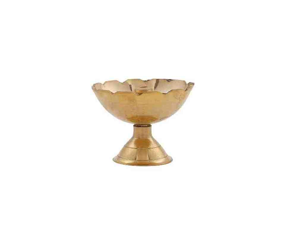 Akhand Diya in Brass Small Size