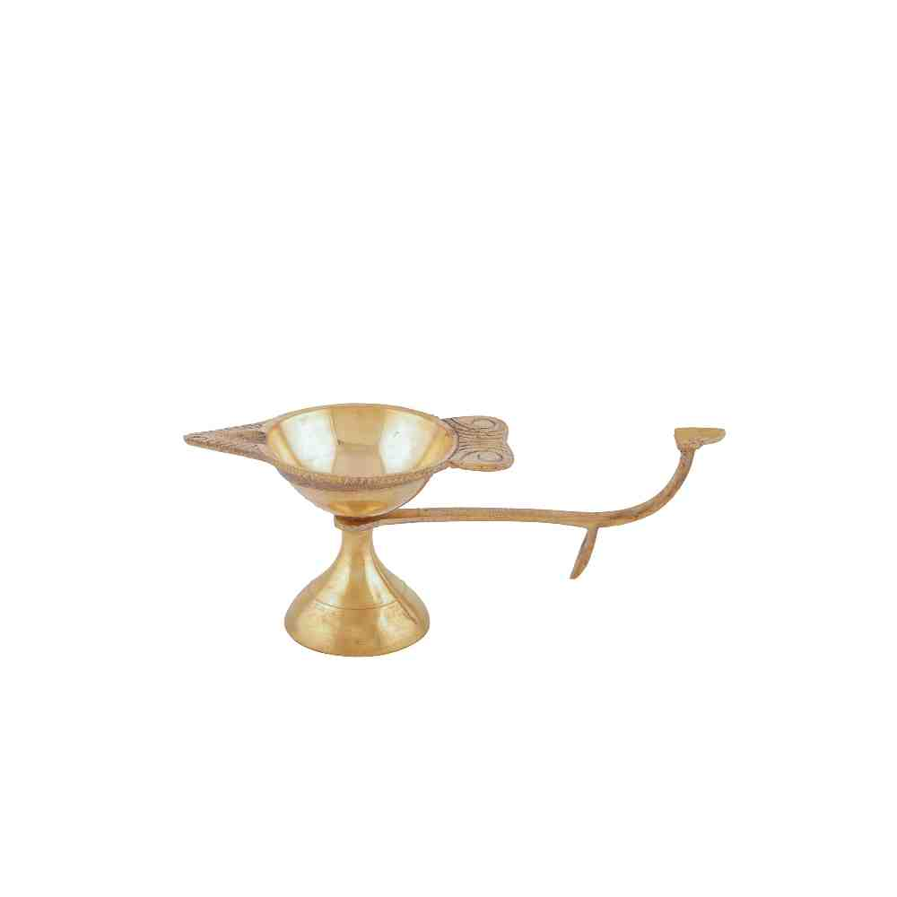 Brass Aarti Diya with Handle