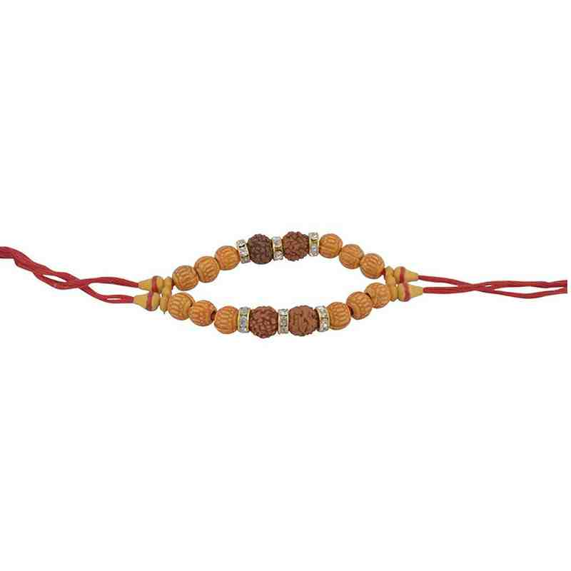 Rudraksha Kalwa with Fancy Beads for Brother