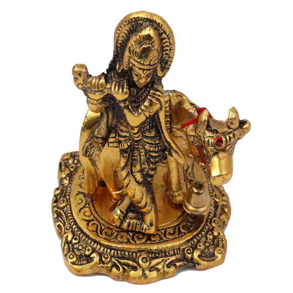 Lord Krishna Statue with Cow