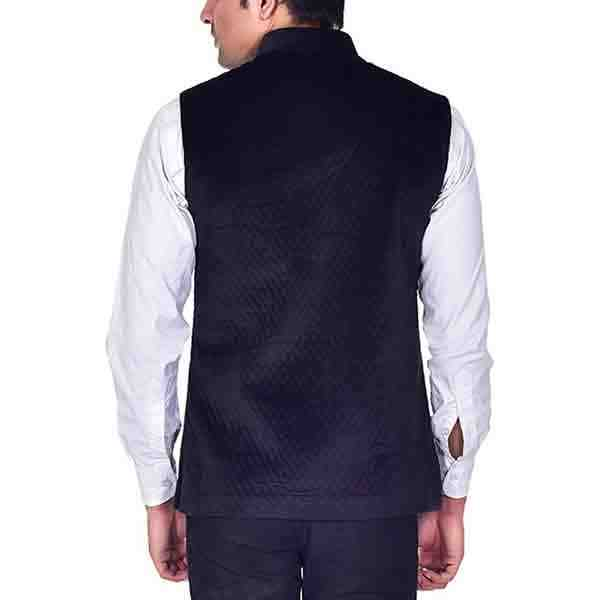 Men's Velvet Nehru Jacket Black