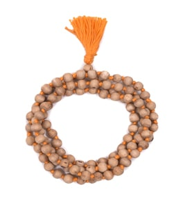 Original Chandan Mala In Orange Thread