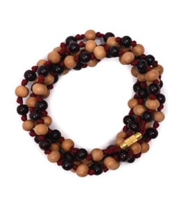 Chandan Mala White And Black Beads