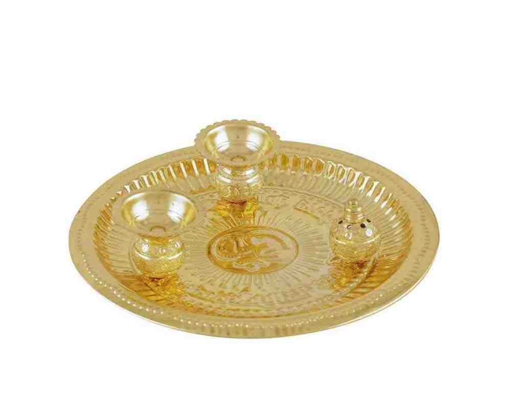 Pooja Thali Set Of 4 pieces