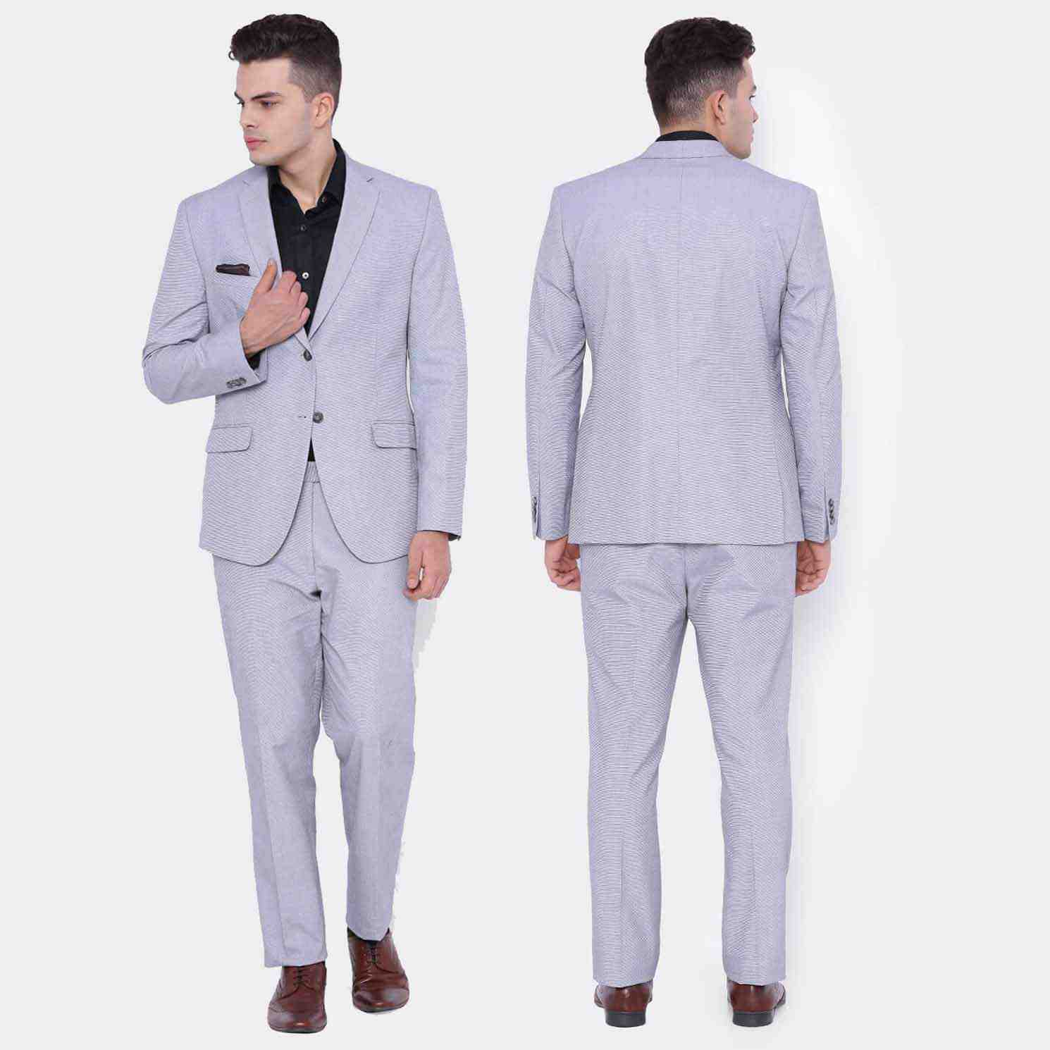Blue Slim Fit Stylish Suit