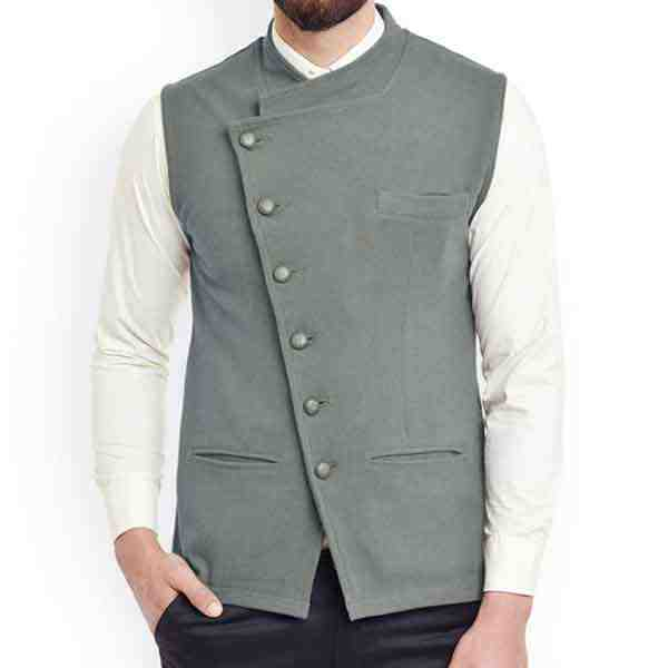 Designer Grey Nehru Jacket
