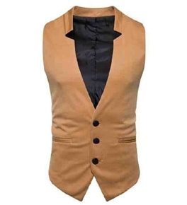 Mens Slim Fit Solid Color Customized Waistcoats