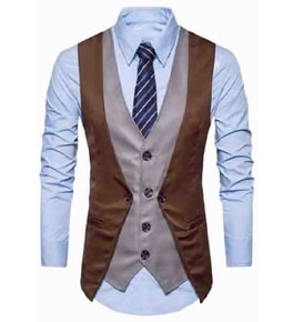 Mens Slim Fit Solid Customized Waistcoat