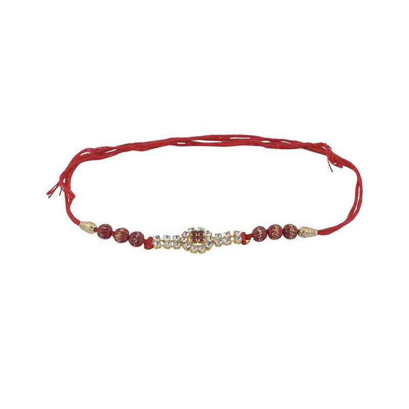 Rakhi in Designer Beads Red Thread