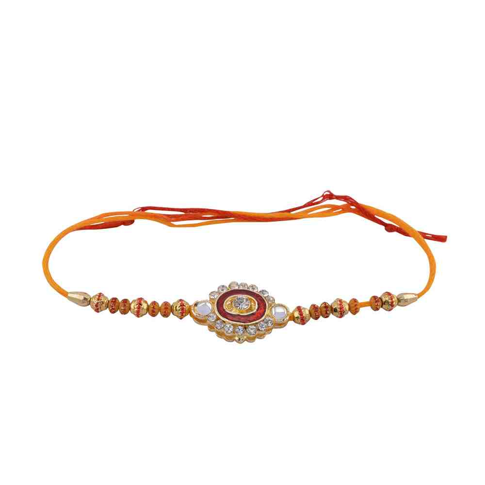Crystal Rakhi Fancy Design For Rakshabandhan