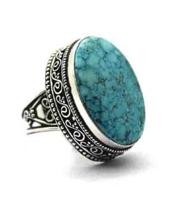 Turquoise Silver Coated Ring