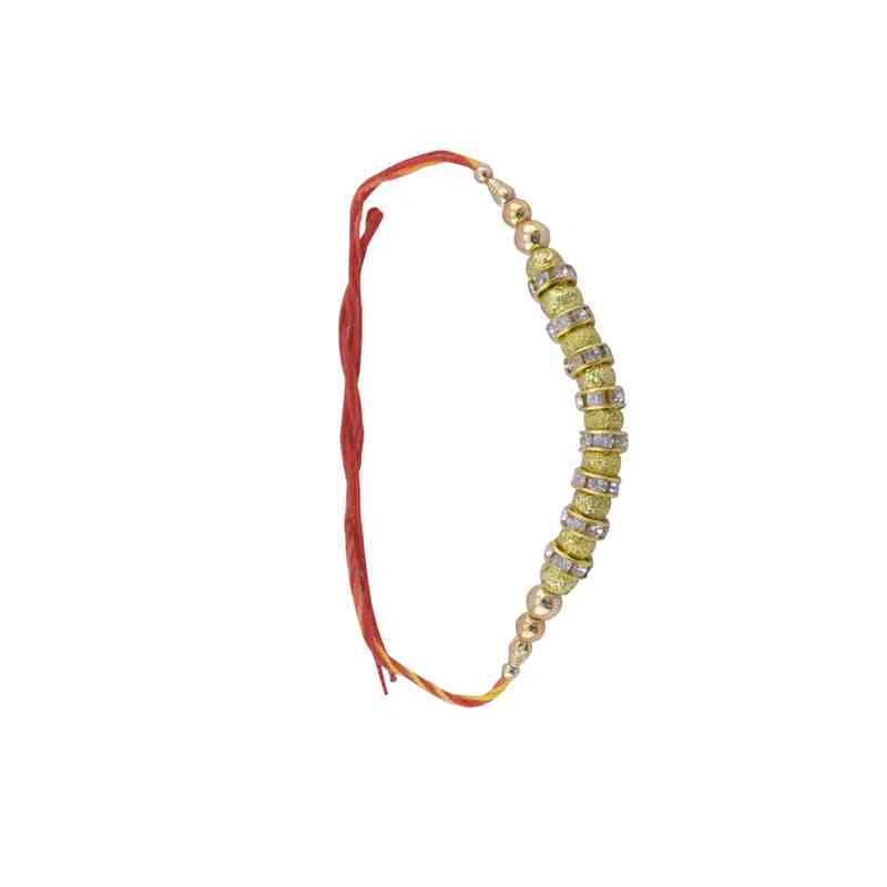 Designer Rakhi with Fancy Golden Bead