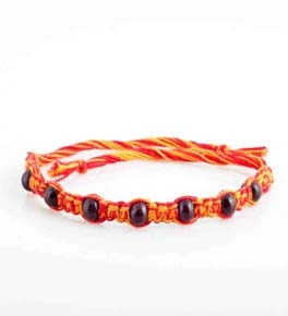 Designer Chandan Kalawa Sandalwood Beads