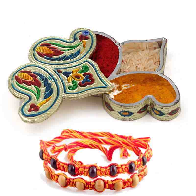 Roli Chopra With Rakhi Set of 2