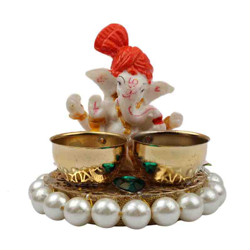 Roli Chawal Box with Ganesh Statue