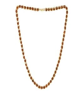 Rudhraksha Mala With Gold Plated Chain