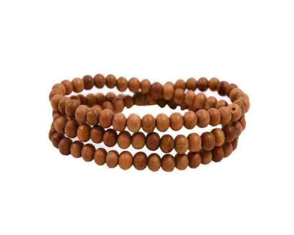 White Beads Chandan Mala